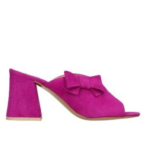 fioletowe buty na obcasie